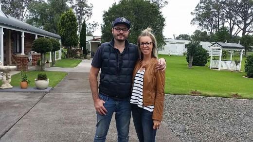 Happy guests Edwina and Matt